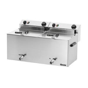 Fritéza elektrická PROFESSIONAL II  s výpustným ventilem - 2 x 10,0 litru