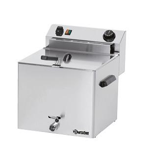 Fritéza elektrická PROFESSIONAL  s výpustným ventilem - 1 x 10,0 litru