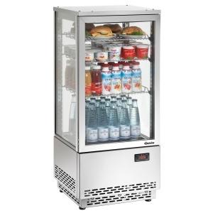 Chladící minivitrína nerezová - 78 litrů