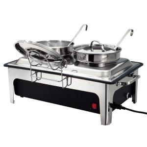 Chafing dish polévkový se dvěma hrnci - 2 x 4 litry