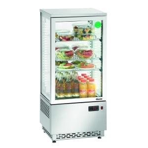Chladící minivitrína - 78 litrů - nerezová