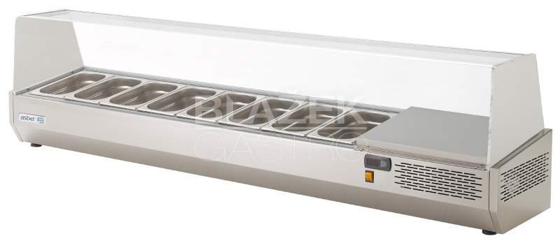Pizza chladící pultová vitrína Asber EV-204 GN1/3
