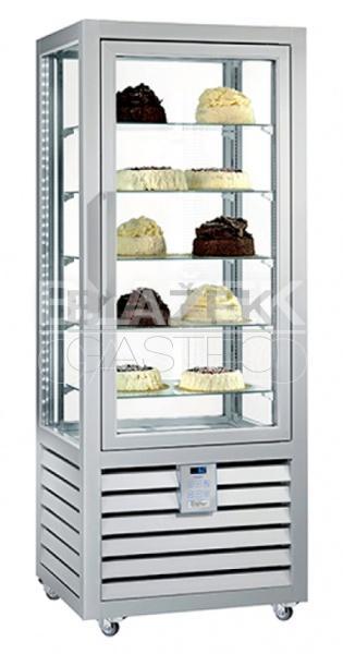 Chladící panoramatická cukrářská vitrína QUADRO NEO PSV 360 L