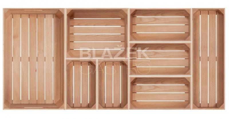 1/4 GN box dřevěný